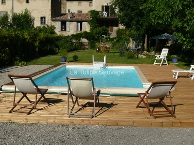 pool guest house la tulip sauvage Bourdeaux